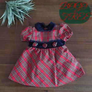 Little Bitty plaid dress 12months